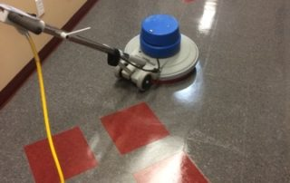floor waxing process